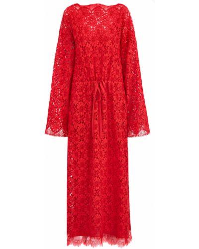 Платье макси с длинными рукавами приталенное Gucci