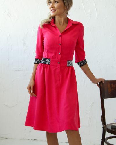 Приталенное нарядное с рукавами платье миди Ellcora