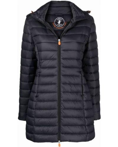 Черное дутое пальто Save The Duck