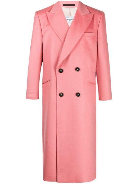 Z kaszmiru różowy płaszcz Casablanca