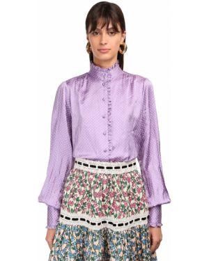 Шелковая рубашка - фиолетовая Marc Jacobs
