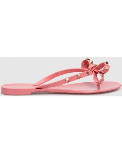 Розовые шлепанцы Valentino