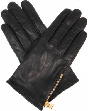 Кожаные перчатки шелковые Prada