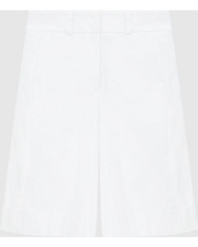 Белые бермуды Peserico