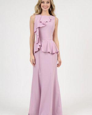 Вечернее платье розовое осеннее Marichuell