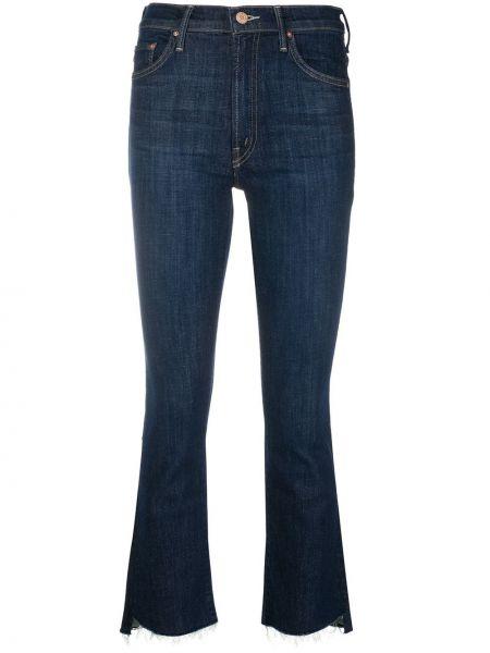 Расклешенные джинсы синие на пуговицах Mother