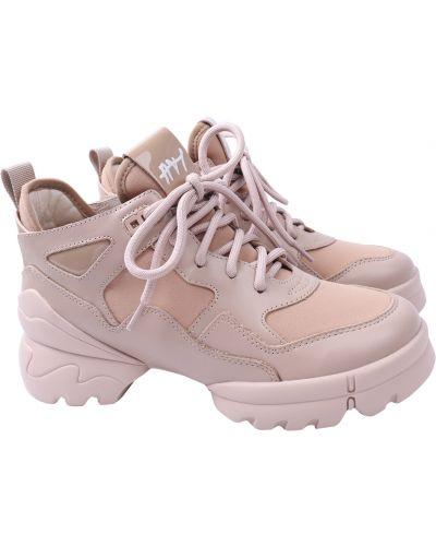 Кожаные ботинки - бежевые Arees Meniwa
