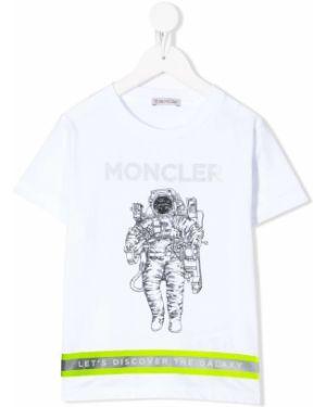 Желтая футболка Moncler Kids