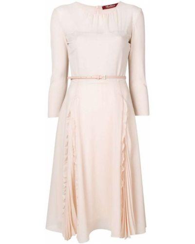 Платье розовое из вискозы Max Mara Studio