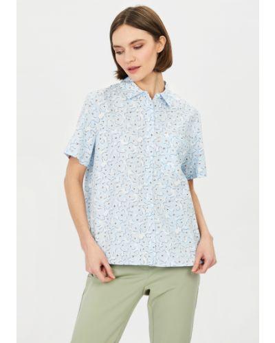 Хлопковая синяя блузка Baon