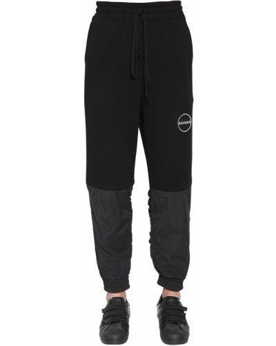 Czarne spodnie bawełniane z falbanami Bmuet(te)