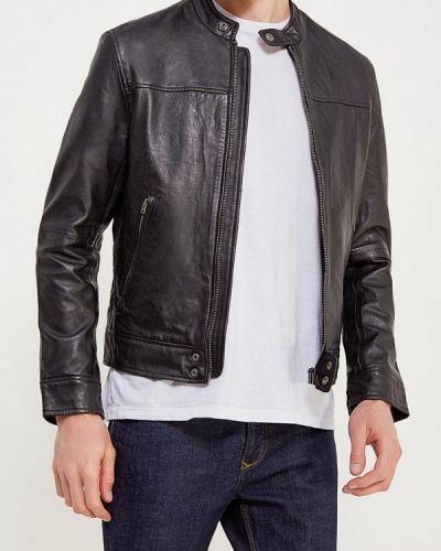Кожаная куртка черная индийский Wrangler