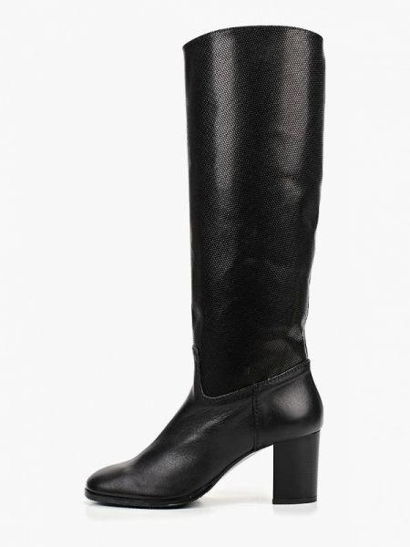 Кожаные сапоги осенние черные Enzo Logana