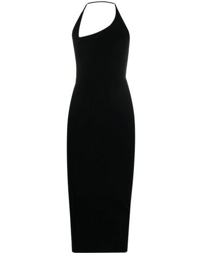 Открытое черное платье миди с открытой спиной Ssheena