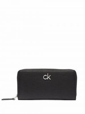 Кошелек из полиуретана - черный Calvin Klein
