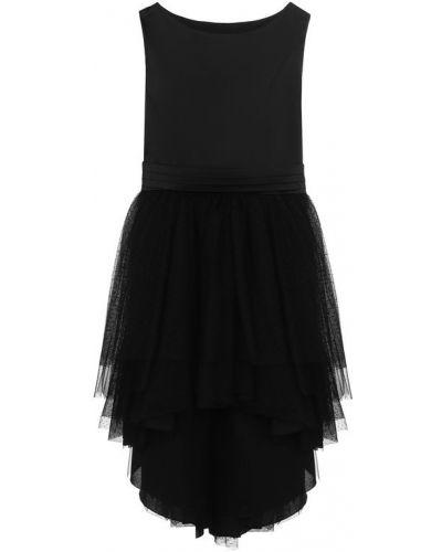Платье с поясом с бантом без рукавов Aletta