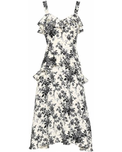 Платье миди с принтом - белое Lover