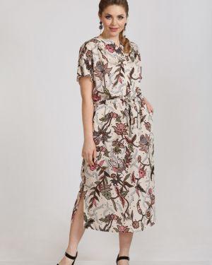 Повседневное платье на пуговицах из штапеля марита