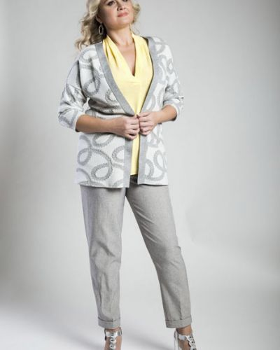 Блузка из вискозы желтый Virgi Style