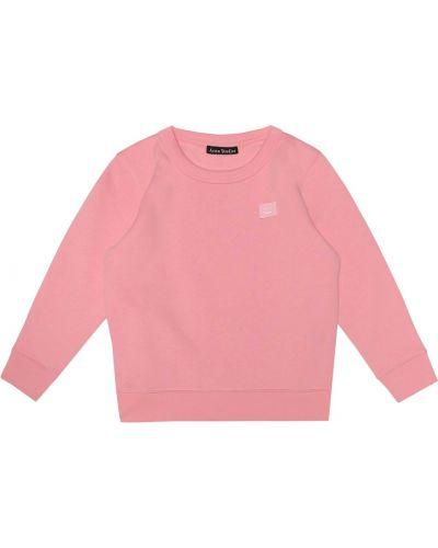 Różowa bluza bawełniana Acne Studios Kids