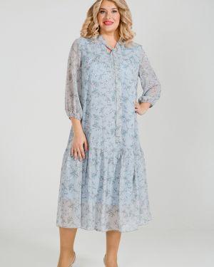 Летнее платье с V-образным вырезом со складками Luxury