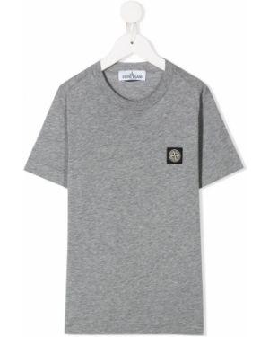 Рубашка с заплатками на шею Stone Island Junior