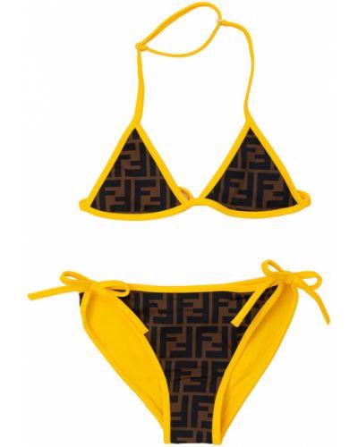 Żółty strój kąpielowy dwuczęściowy Fendi