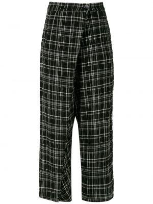 Акриловые черные брюки с запахом с карманами Uma   Raquel Davidowicz