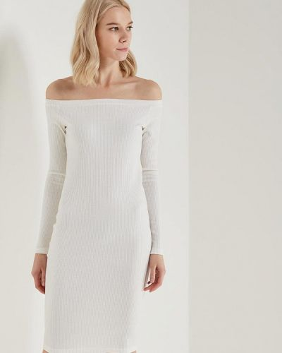 Белое платье осеннее A-a By Ksenia Avakyan