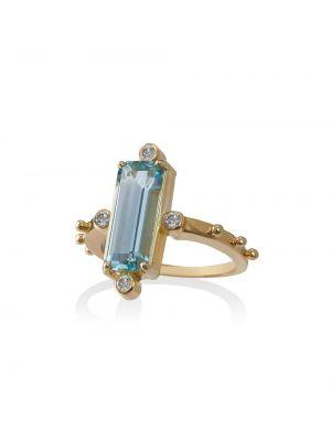 Синее кольцо с бриллиантом Jessie Western
