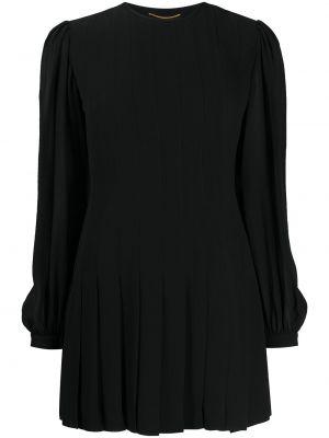 Шелковое платье макси - черное Saint Laurent