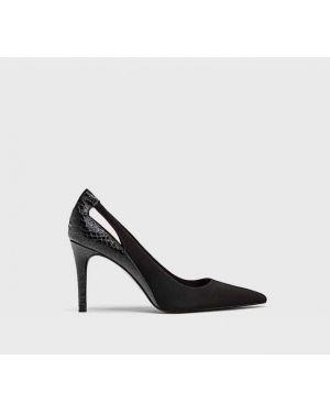 Туфли на каблуке черные Stradivarius