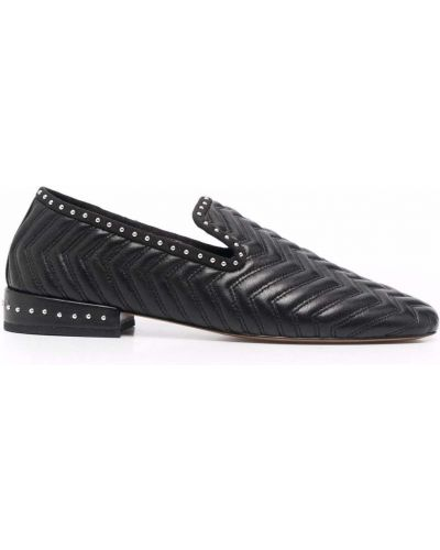 Loafers na obcasie - czarne Maje
