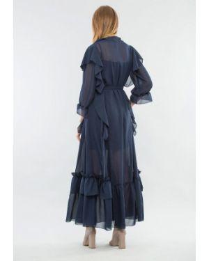 Синее вечернее платье Maxa