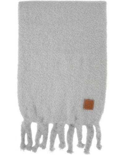 Коричневый шерстяной шарф прямоугольный Loewe