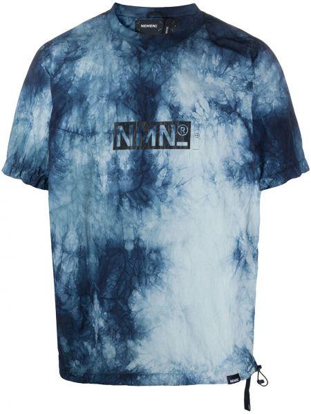 Нейлоновая с рукавами синяя рубашка с короткими рукавами Nemen