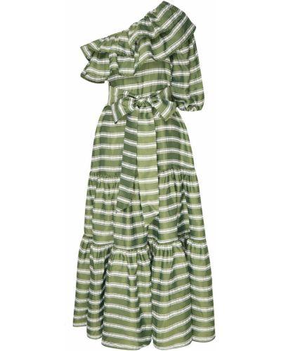 Платье с поясом на одно плечо в полоску Lisa Marie Fernandez