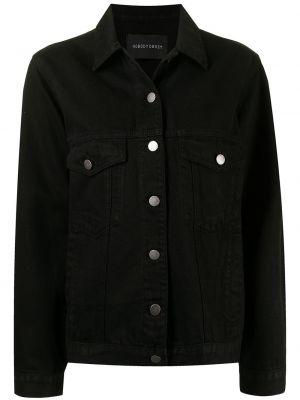 Хлопковая джинсовая куртка - черная Nobody Denim