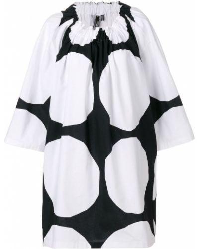 Платье в горошек черно-белое Junya Watanabe Comme Des GarÇons