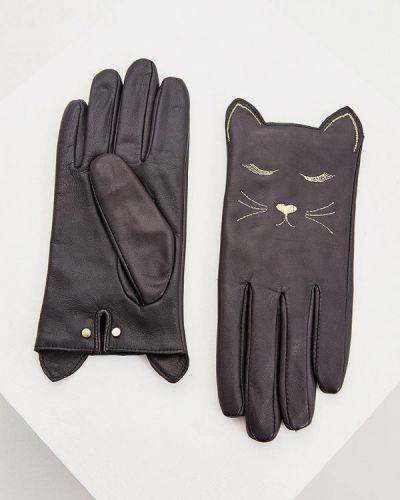 Кожаные перчатки черные Ted Baker London