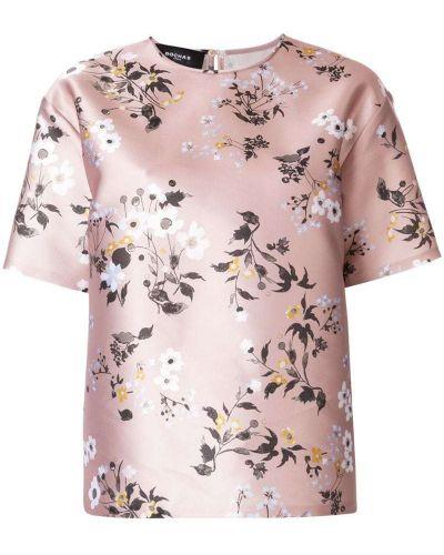 Бежевая футболка с цветочным принтом Rochas