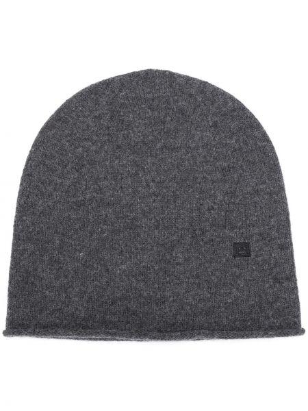 Klasyczna czapka wełniana z haftem Acne Studios