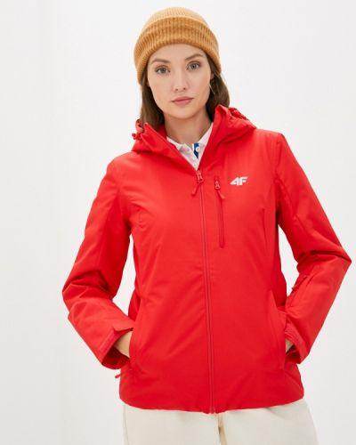 Красная куртка горнолыжная 4f