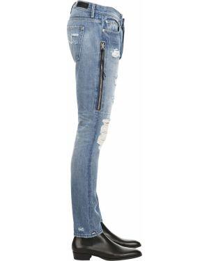 Niebieskie jeansy w paski bawełniane Mr.completely