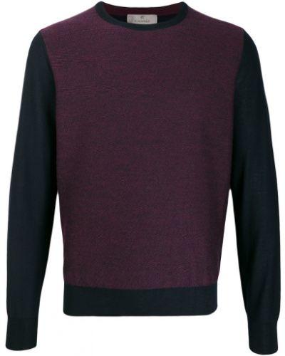 Приталенный фиолетовый свитер Canali