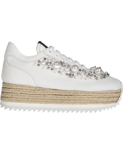 Кроссовки на платформе белый Le Silla
