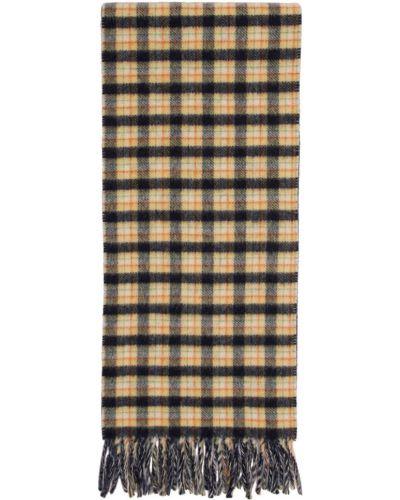 Żółty szalik wełniany Gucci