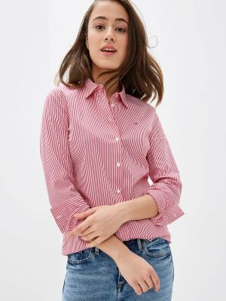 Рубашка с длинным рукавом красный Tommy Hilfiger