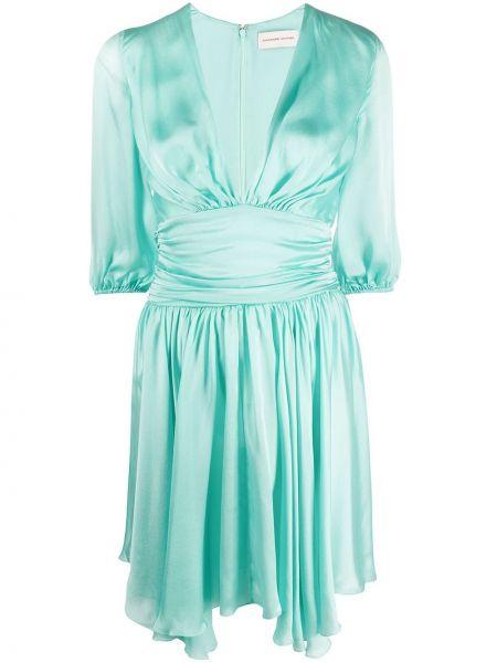 Платье с V-образным вырезом шелковое Alexandre Vauthier