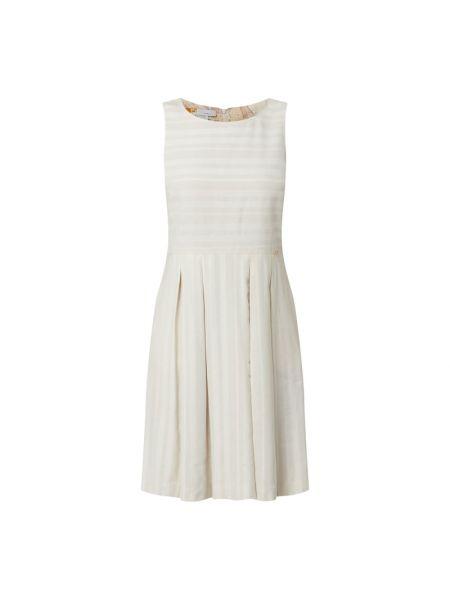 Sukienka rozkloszowana w paski - beżowa Cinque